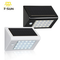 2 PCS Outdoor Light Waterproof 20 LED Solar Power PIR Motion Sensor Garden Yard Wall Light
