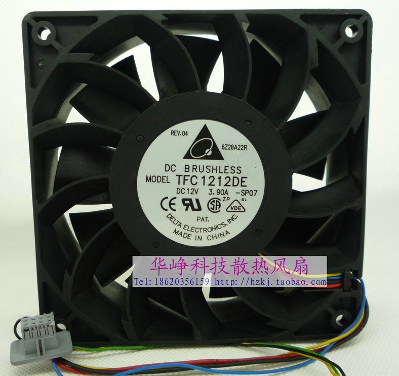 Original Delta TFC1212DE 12V 3.9A 120*120*38MM 12cm 4 wires PWM Server Cooling fan new afb1212she 12038 12cm 1 6a 12v 4wire pwm 40cm long line of fan for delta 120 120 38mm