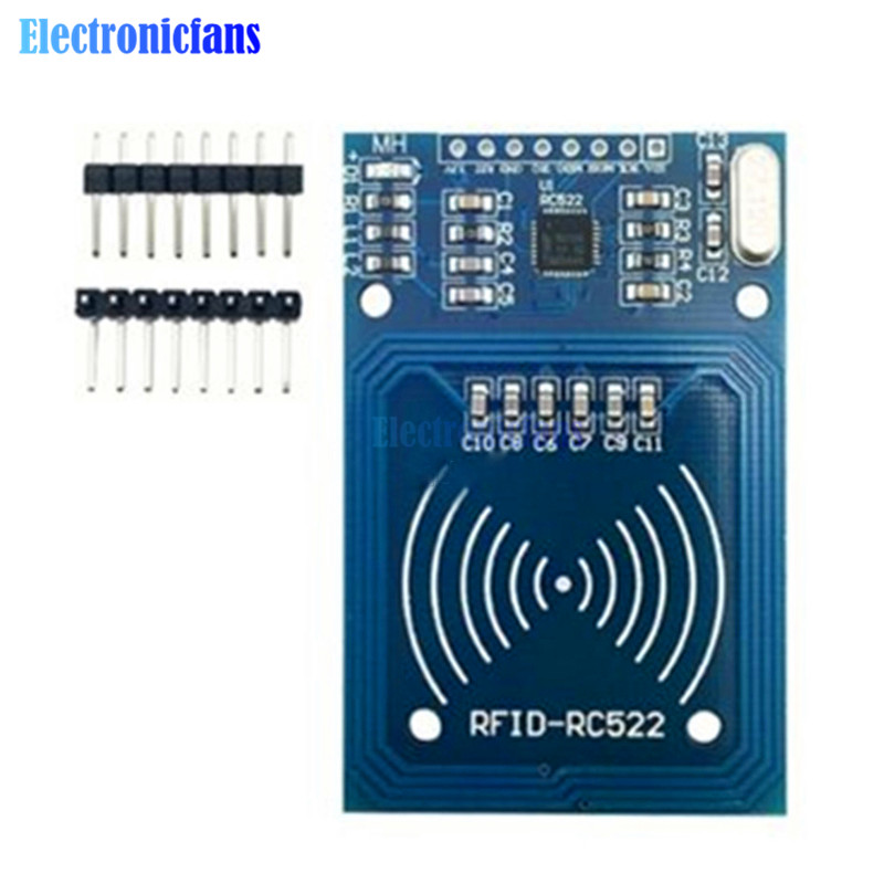 US $0 84 12% OFF|13 56MHz RFID Module For Arduino MF RC522 RC 522 Reader  Writer Sensor Card Module I2C Interface 2 Pins 3 3V DC-in Integrated  Circuits