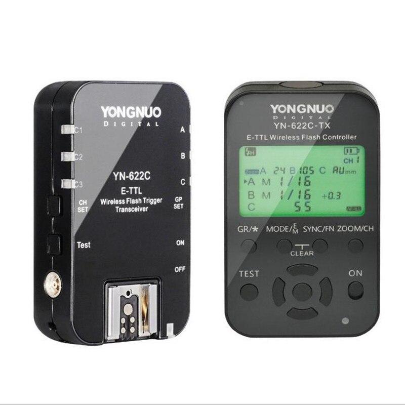 Yongnuo YN-622C + YN-622C-TX KIT Sans Fil TTL HSS Déclencheur Flash pour Canon 1200D 1100D 1000D 800D 750D 650D 600D 550D 500D 5D II