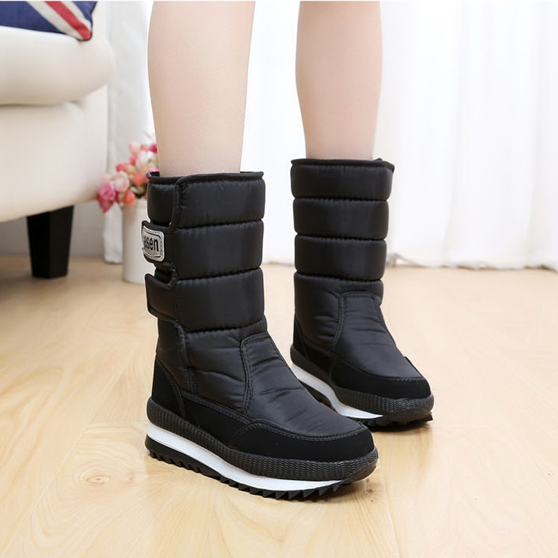 New 2017 women's boots winter shoes thick plush non-slip waterproof snow boots for women botas mujer skhek girls boy boots for kid snow botas winter warm plush baby boot waterproof soft bottom non slip leather booties kids shoes