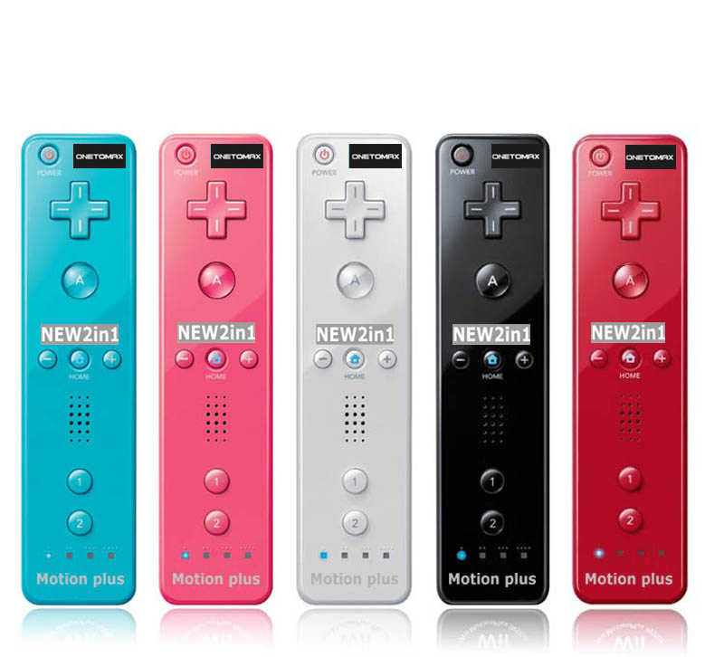 For Nintendo Wiimote Built in Motion Plus Inside Remote Gamepad Controller For Wii Controller For Wii remote and nunchuck 2 in 1