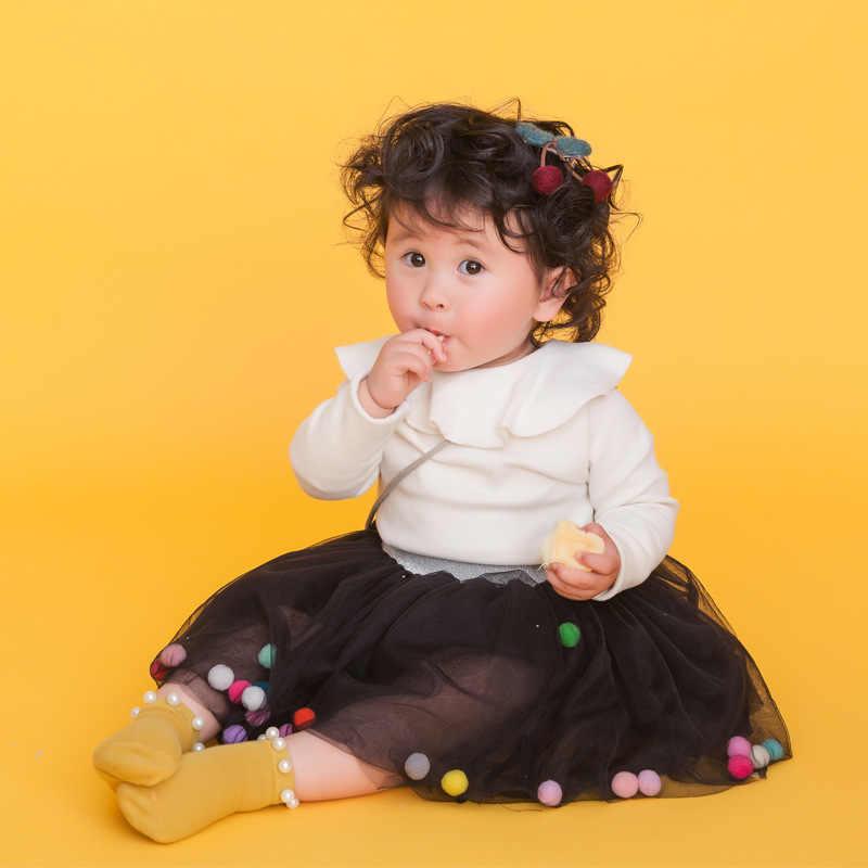 4 capas bolas chicas tutú falda suave malla de encaje faldas para niños Ins estilo caliente bebé tutú falda salvaje de fondo princesa falda