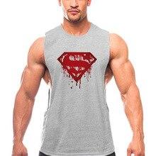 Tank top summer bodybuilding fitness running slit sports vest men's cotton sleeveless T-shirt