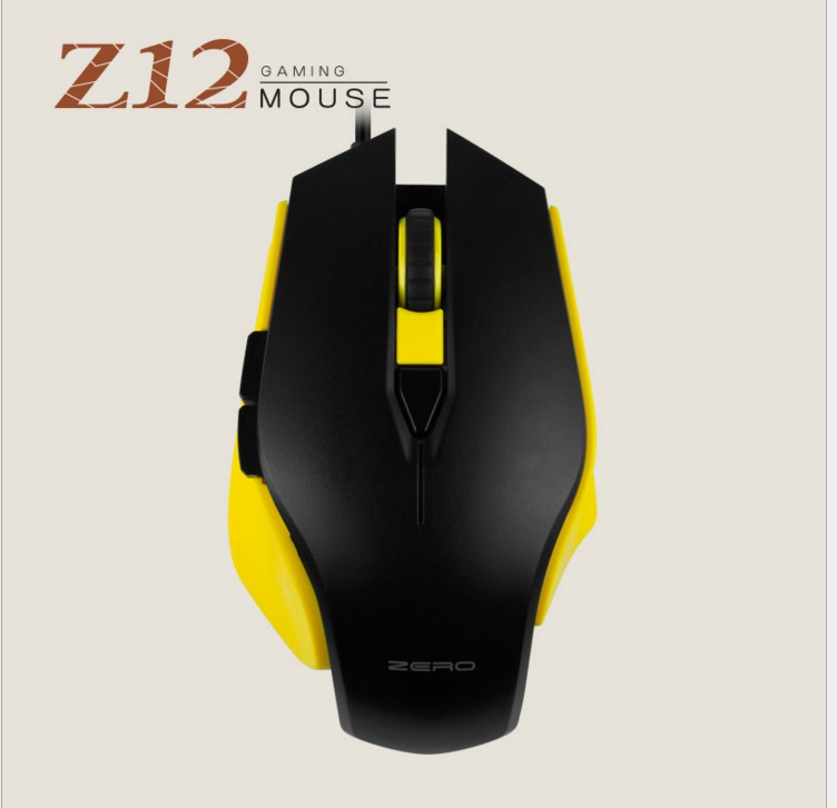 Metoo ZERO Z12 Wired Gaming Mouse USB Optical LED Lights Mouse Gamer 6 button For PC