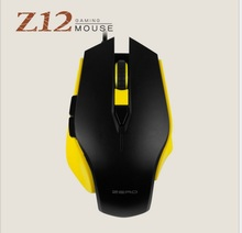 Metoo ZERO Z12 Wired Gaming Mouse Óptico USB Luzes LED 6 botão Do Mouse Gamer Para PC Notebook Desktop