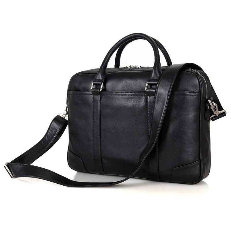 Nesitu Promotion Black Genuine Leather Men Briefcase 14 Laptop Portfolio Men s Messenger Bags Male Business