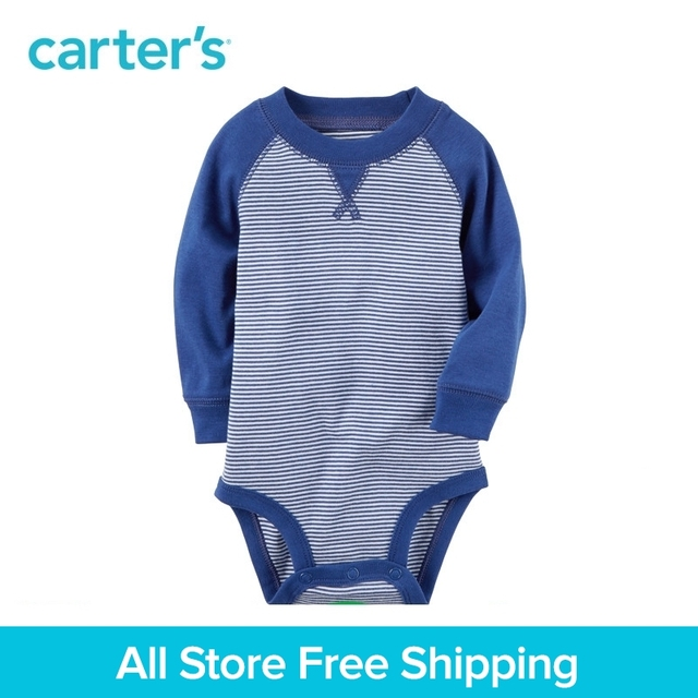 805102f3ec115 Carter's 1-Piece baby children kids clothing Boy All Seasons Long-Sleeve  Cotton Raglan Striped Bodysuit 118H600