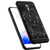 Crouch For Meizu M3 Note Phone Case Silicon High Quality 3D Carved Dragon Original Protector Shell