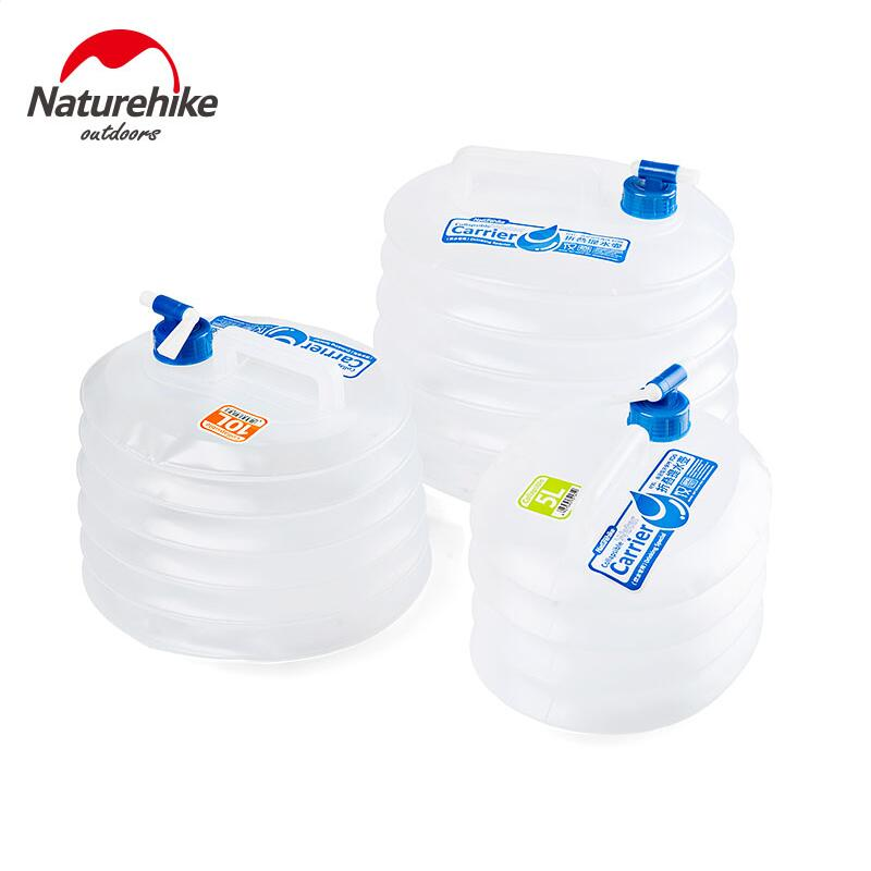 Naturehike Folding Outdoor Hunting Hiking Travel water buckes lightweight plastic bottle Camping equipment 5L 10L 15L NH14S002-T