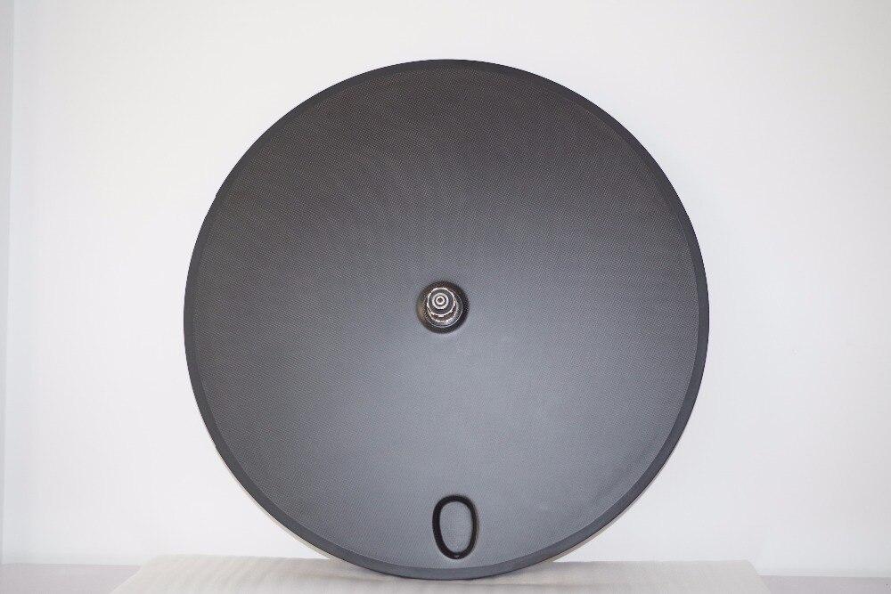 700C 23mm largeur disque carbone complet roue arrière pneu Tubeless, roue de vélo de route tubulaire Triathlon TT roue de piste de vélo