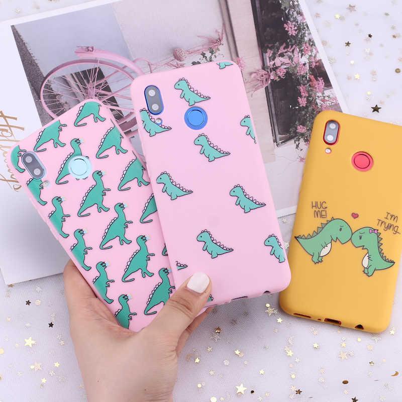 สำหรับ Xiaomi Mi Redmi หมายเหตุ 5 6 7 8 9 10 Lite Pro PLUS เด็กน่ารักไดโนเสาร์ Hug การ์ตูน Candy ซิลิโคนโทรศัพท์กรณี Capa Fundas