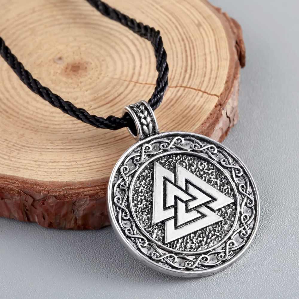 CHENGXUN ожерелье с подвеской в стиле норвежских викингов символ Valknut of Odin кулон ожерелье для мужчин скандинавские славянские ювелирные изделия