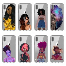2bunz Melanin Poppin Aba Soft Silicone Phone Case for iPhone X 6 7 8 plus 5 5s se 6s XR XS Max Fashion Black Girl Cover цены онлайн