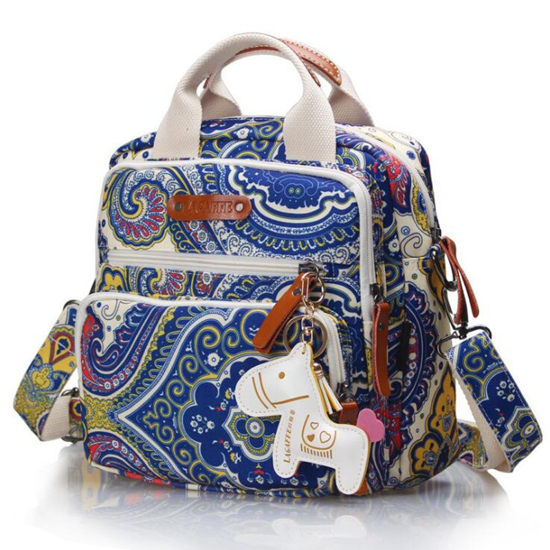 Brand Multifunction Diaper Bag Backpack Mother Care Hobos Bags, Baby Stroller Bags Nappy Bag for Mom with Horse Ornaments