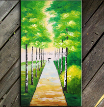 hand painted  MODERN ABSTRACT HUGE LARGE CANVAS ART OIL PAINTING beautiful happyness street paintings no framed