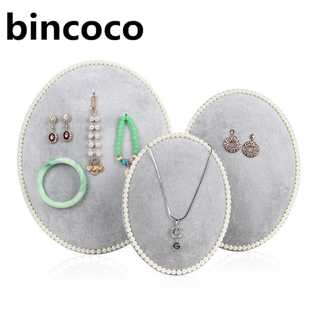 bincoco jewelry display frame Necklace Display Stand Velvet rack