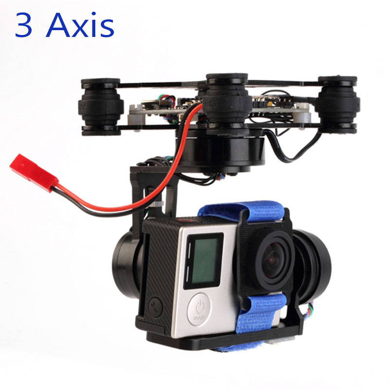 3 Axis Brushless Gimbal Storm32 Controlller Lightweight FPV Gimbal plug and play For GoPro Hero 3