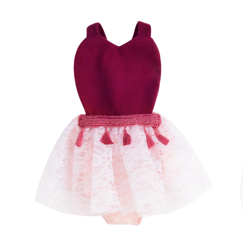 Christmas Baby Girls Party Princess Sleeveless Bodysuit Infant Fancy