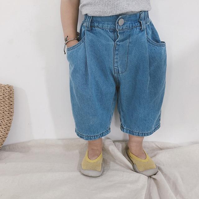 2 Colors Blue Loose Jeans...