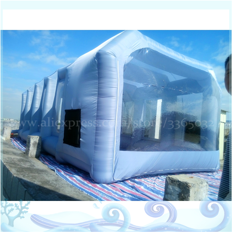 the latest 23f6f bc103 US $828.0 8% OFF|2018 Tope Sale Oxford Fabric Mobile Car Wash Tent 9*4*3  meters Inflatable Spray Paint Booth For Car-in Toy Tents from Toys &  Hobbies ...