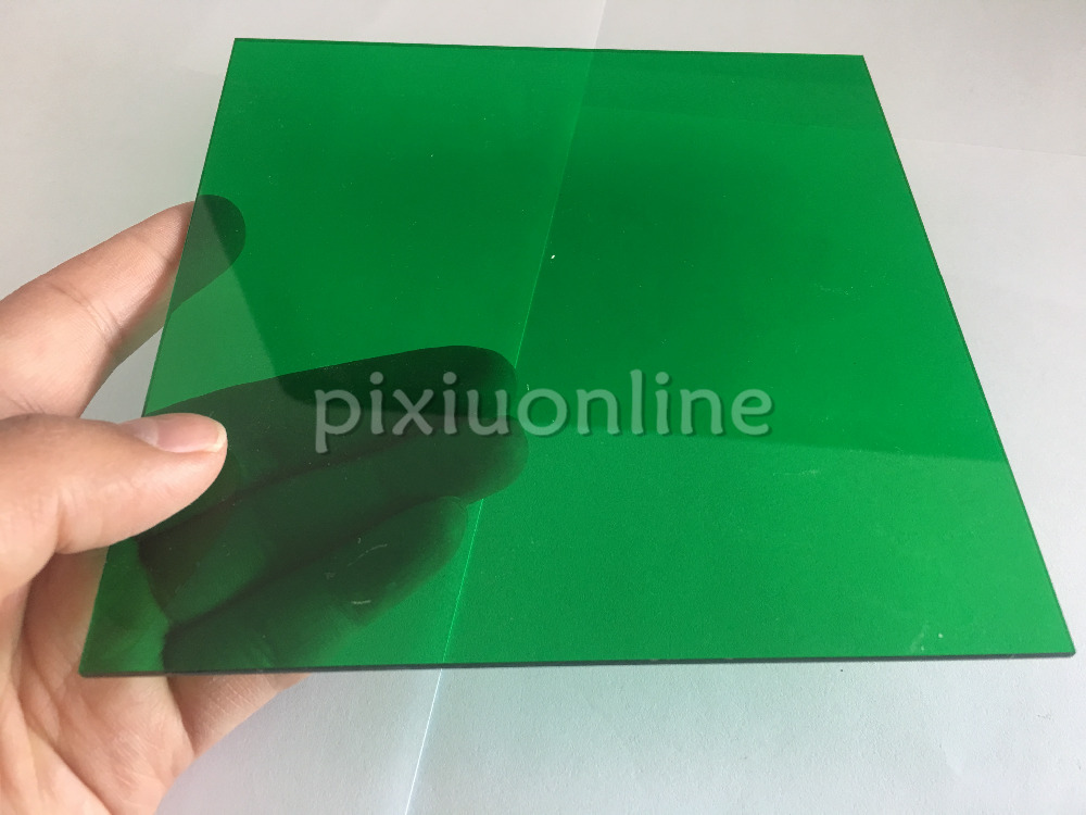 J591b Transparent Acrylic Board Emerald Green Super Clear High Quality 15*15cm Square Plastic Sheets Sale At A Loss USA Canada