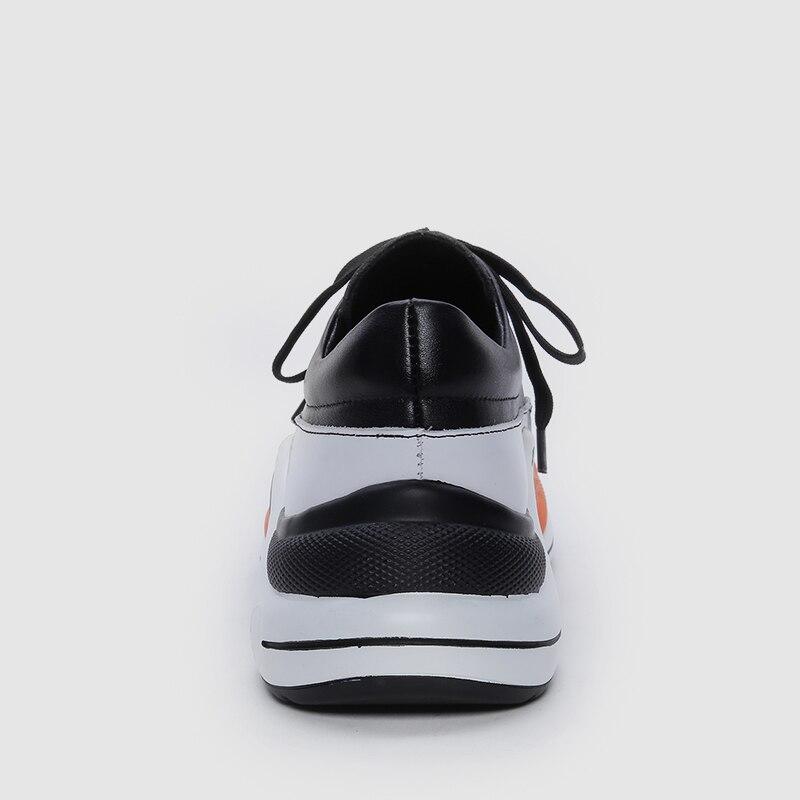 Shose Printemps Femmes 40 Des Doratasia Femme blanc forme 2019 Plate Sneakers Automne Marque Noir Cuir Conception Véritable En 35 Chaud Bx6Yfqw