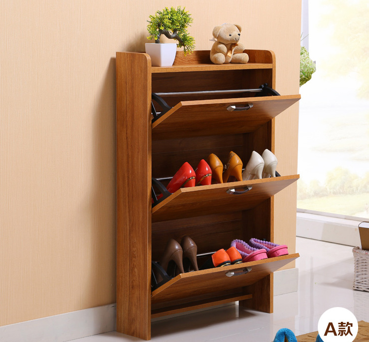 Shoe Racks Living Room Furniture Home Wood Panel Ultra Thin Skip Rack A B C