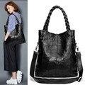 2017 новых женщин сумка Черная Сумка Овчины Натуральной Кожи сумка женская мода сумки элегантные роскошные женщины сумки на ремне