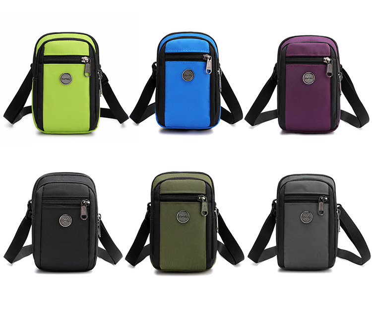 2019 New Multi-function Small Bags Men And Women Waterproof Nylon Mobile Phone Pouch Unisex Mini Shoulder Bags Waist Bag