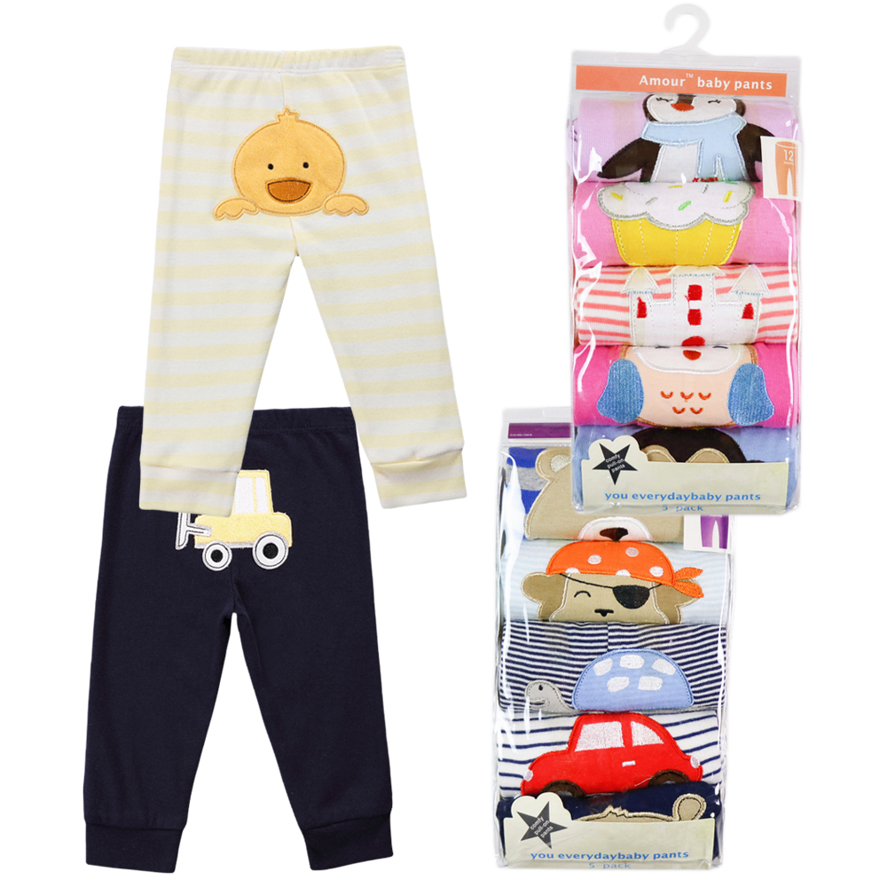 Factory Wholesale 5 Pcs/lot Baby Pants Spring&Autumn Baby Girl Boy Clothing 100% Cotton Narrow Leg Pant Clothes Random Delivery
