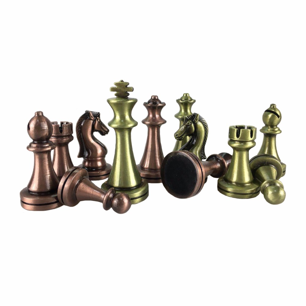 BSTFAMLY Chess Set Kirsite electroplating Technology Chess Piece High Grade King Height 67mm Chess Game Bronze Chess Piece LA102 bstfamly chess set abs plastic plating process and metal aggravation chess pieces high grade king height 90mm chess game la100