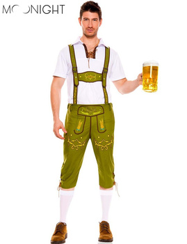 MOONIGHT 2 Color Men Oktoberfest Costumes German Beer Cosplay Bavarian Octoberfest Festival Party Clothes Halloween Costumes