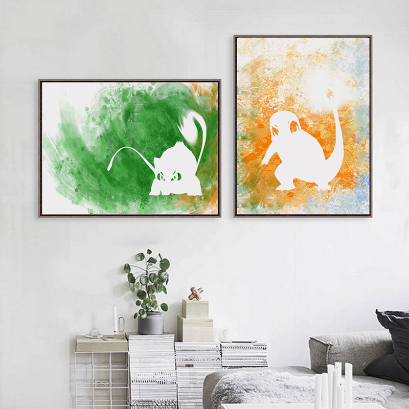Modern Simple Splash Go Canvas Painting Art Print Poster Picture Wall  Paintings Bedroom