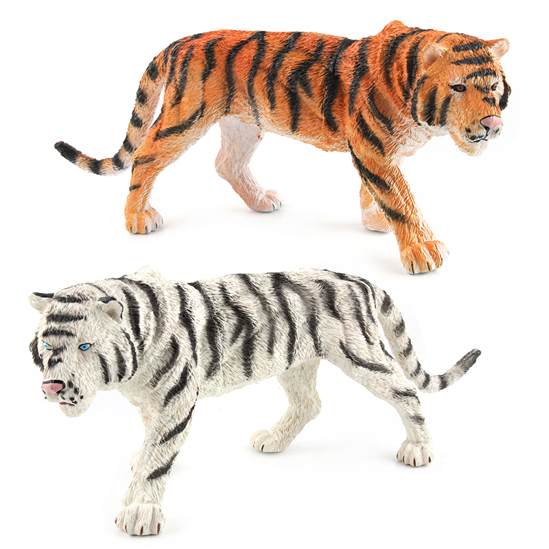 2 styles Animal Model Action Figures Plastic Tiger Simulation Animal Toy Learning Educational Toys For Children Gift #E lps pet shop toys rare black little cat blue eyes animal models patrulla canina action figures kids toys gift cat free shipping