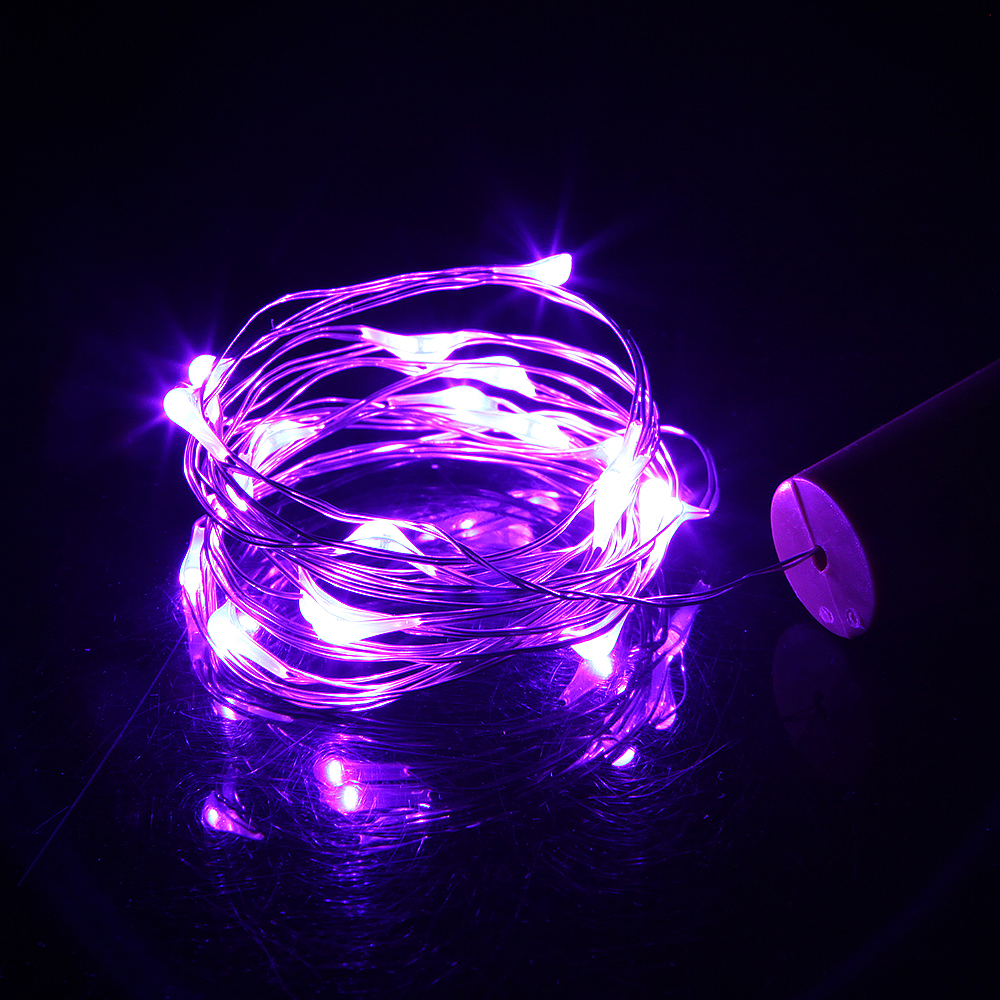 2M Copper Fairy Wire String Light with Bottle Stopper