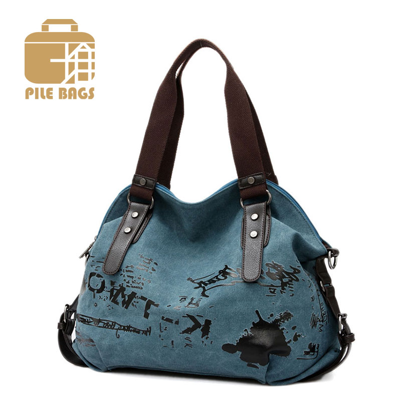 Canvas Bags Messenger Vintage Shoulder Bohemian Style Printing Handbag Ladies Tote Shopping Office Lunch Bag