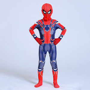 Image 4 - Man Latex Spider Costume for Kids Halloween Superhero Party Cosplay Carnival Spider Boys Fancy Dress