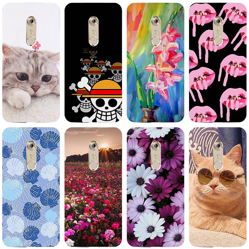 Soft TPU Cartoon Case For Coque ZTE Axon 7 Case Silicon Back Cover for ZTE Axon 7 A2017 <font><b>A2018</b></font> Axon 7S Case Capa image