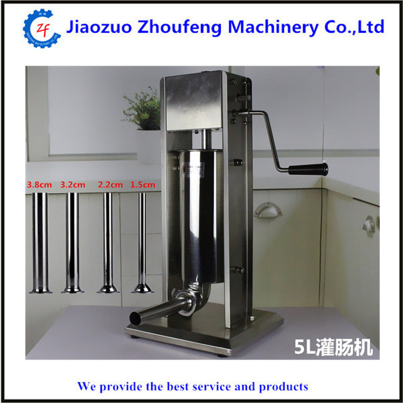 Best selling 12L stainless steel manual vertical sausage meat filling making machine hot dog extruder sausage stuffer maker ship from germany 5l stuffer maker machine commercial sausage filling machine sausage stainless steel with 4 filling pipes