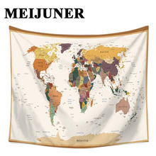 Meijuner world map tapestry cactus watercolor headboard wall decor meijuner world map tapestry cactus watercolor headboard wall decor large wall tapestry hanging wall art home decoration mj094 gumiabroncs Images