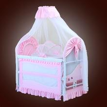Новая детская кроватка детская кровать с Москитная сетка мат набор портативная складная кроватка с многофункциональной кроваткой для новорожденных новейшая