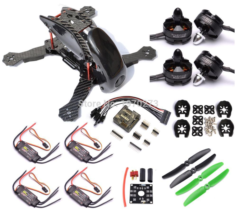 Robocat 270 Kit cadre Naze32 Rev6 6DOF Contrôleur 20A BLHeli ESC MT2204 2300kv Moteur 5030 Hélice Pour quadrirotor