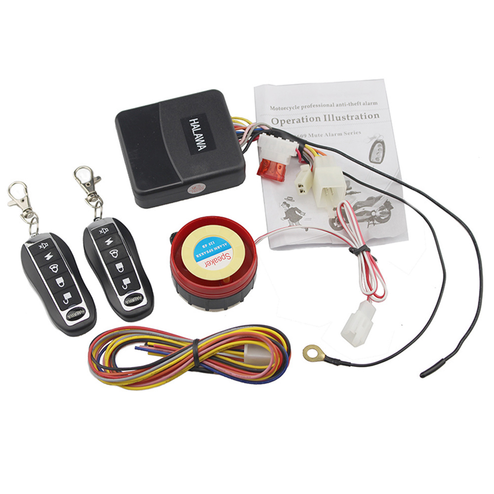 12v Motorcycle Scooter Alarm 125dB Motorbike Anti-theft Security Immobiliser Alarm System Keyless Remote Control Engine Start