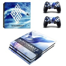 Ace Combat 7 Skies Unknown PS4 Pro Skin Sticker For PlayStation 4 Console and 2 Controllers PS4 Pro Skin Stickers Decal Vinyl