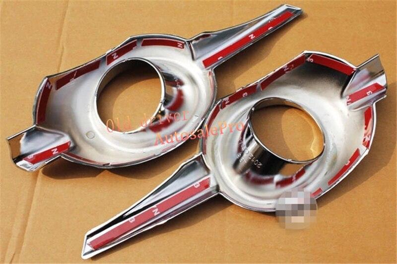 เงางามมาก!! โครเมี่ยมไฟตัดหมอกหน้าไฟ 2 ชิ้นสำหรับ Honda CRV 2012 2013 1 ORDER|การออกแบบโครเมี่ยม|รถยนต์และรถจักรยานยนต์ -
