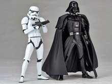 Revoltech Star Wars Darth Vader 001 Stormtrooper 002 PVC Action Figures Collectible Model Toys