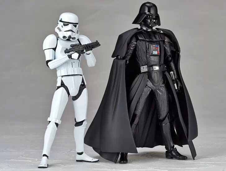 Revoltech Star Wars Darth Vader 001 Stormtrooper 002 PVC Action Figures Collectible Model font b Toys