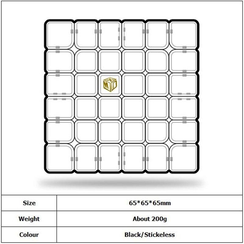 QIYI OMBRE M 6x6 Magnétique CUBE Professionnel concurrence Magnétique 6x6 jouets éducatifs