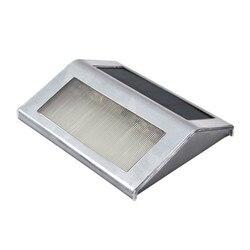2 Pçs/lote Mini Led Solar Luz Ao Ar Livre Solar Luzes Frio/Warm White Luzes Solares Da Escada Interior CONDUZIU a Luz de Inundação Lâmpadas de jardim